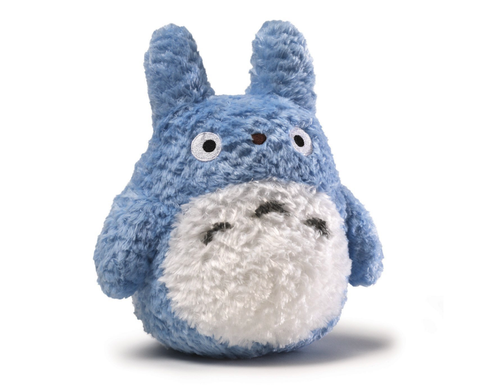 "Totoro Fluffy Blue 8"" plush toy 4037351"