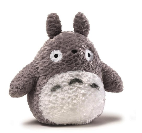 "Totoro Fluffy Grey 9"" plush toy 4037350"