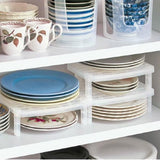 Stackable dish storage rack