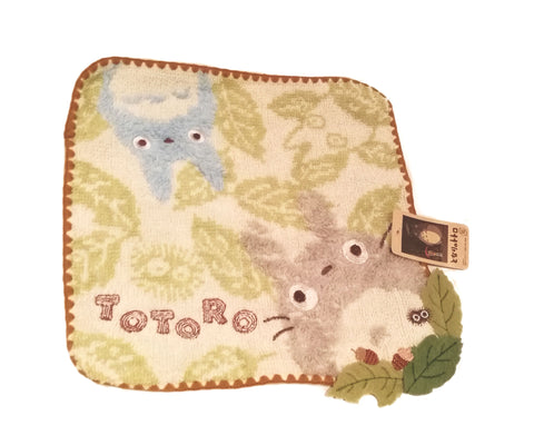 Studio Ghibli Collection- My Neighbour Totoro Leaf design Handkerchief/ mini towel