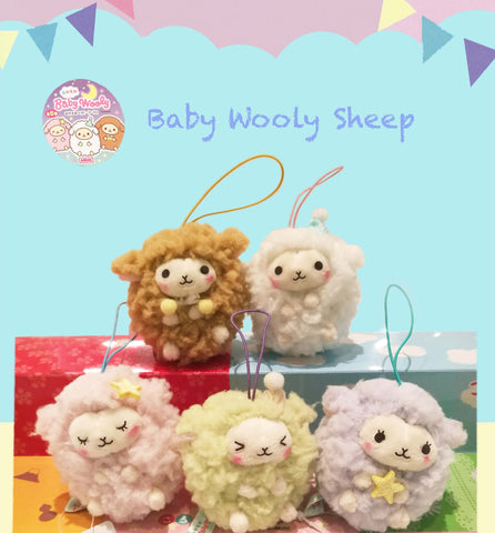 Japanese Super Cute Fluffy Soft Wooly Baby sheep charm plush