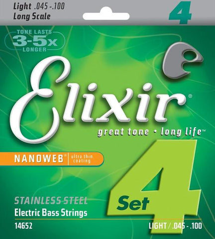 Elixir Bass NANOWEB Stainless Steel