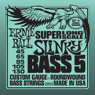 Ernie Ball Slinky Nickel 5-String Bass Super Long Scale