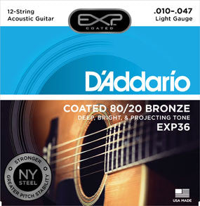 D'Addario Coated Acoustic 80/20 Bronze