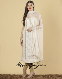 Meena Bazaar: Unstitched Cotton Tissu suit piece.
