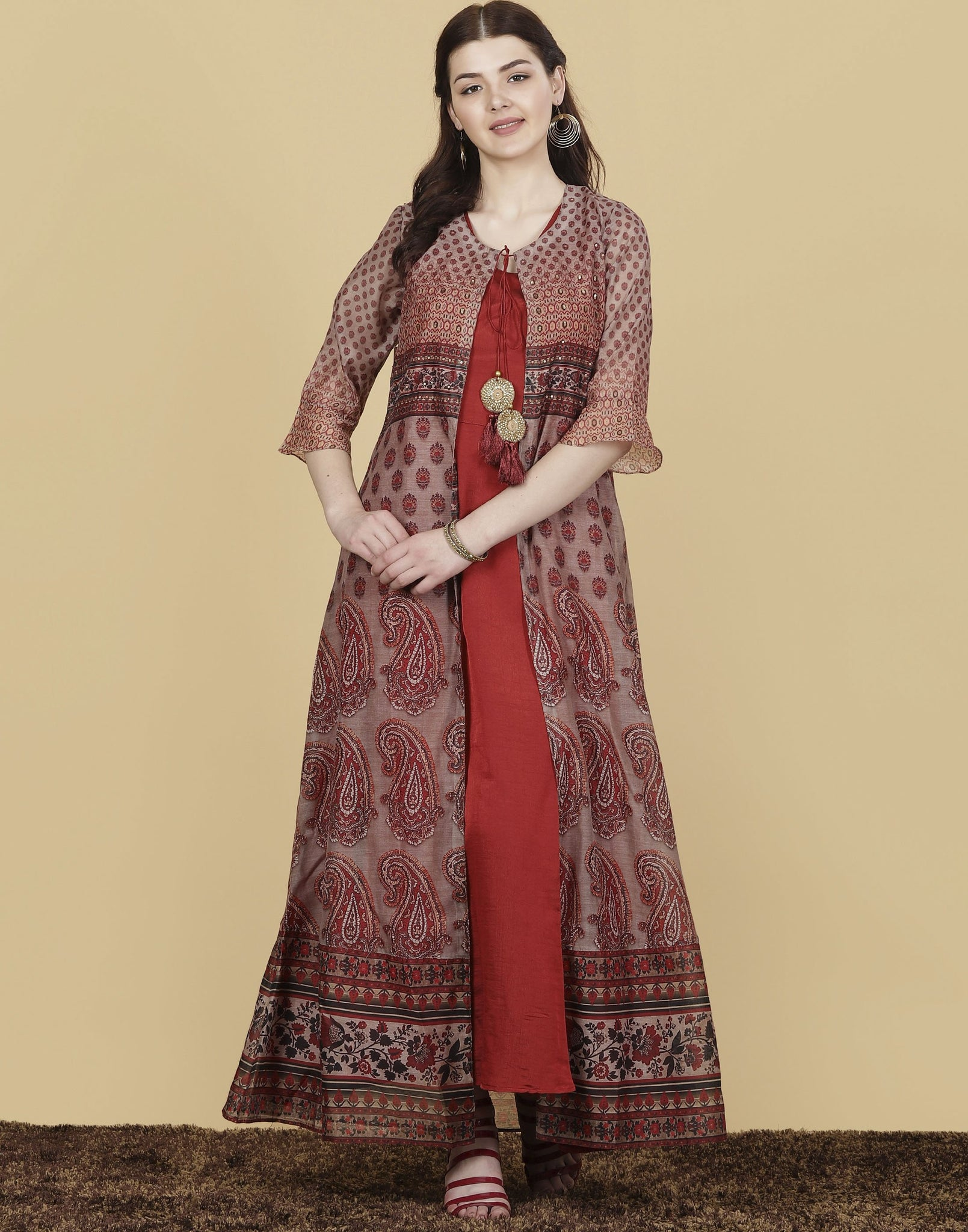 Meena Bazaar: Cotton Chanderi Dress