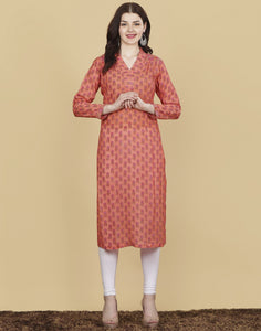 Meena Bazaar : Cotton Chanderi kurti