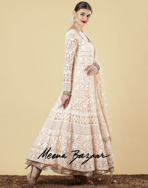 Meena Bazaar : Net Anarkali Suit Set