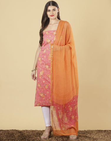 Meena Bazaar: Unstitched Cotton suit piece.