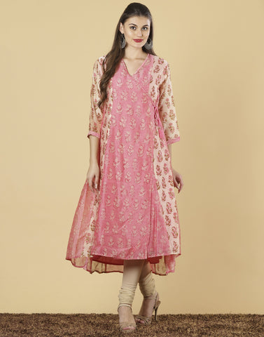 Meena Bazaar: Cotton chanderi Kurti