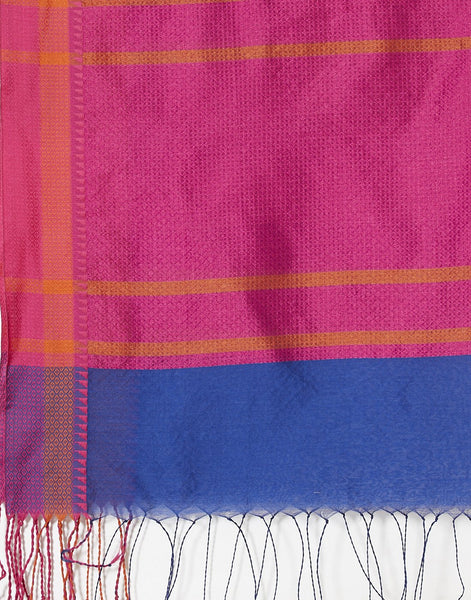 Royal Blue Cotton Woven Saree