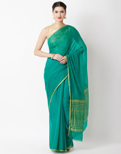 Green Art Chiffon Saree