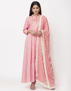 Pink Cotton Salwar Kameez