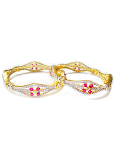 MBZ Meena Bazaar-Beautiful Gold Plated Bangle Set
