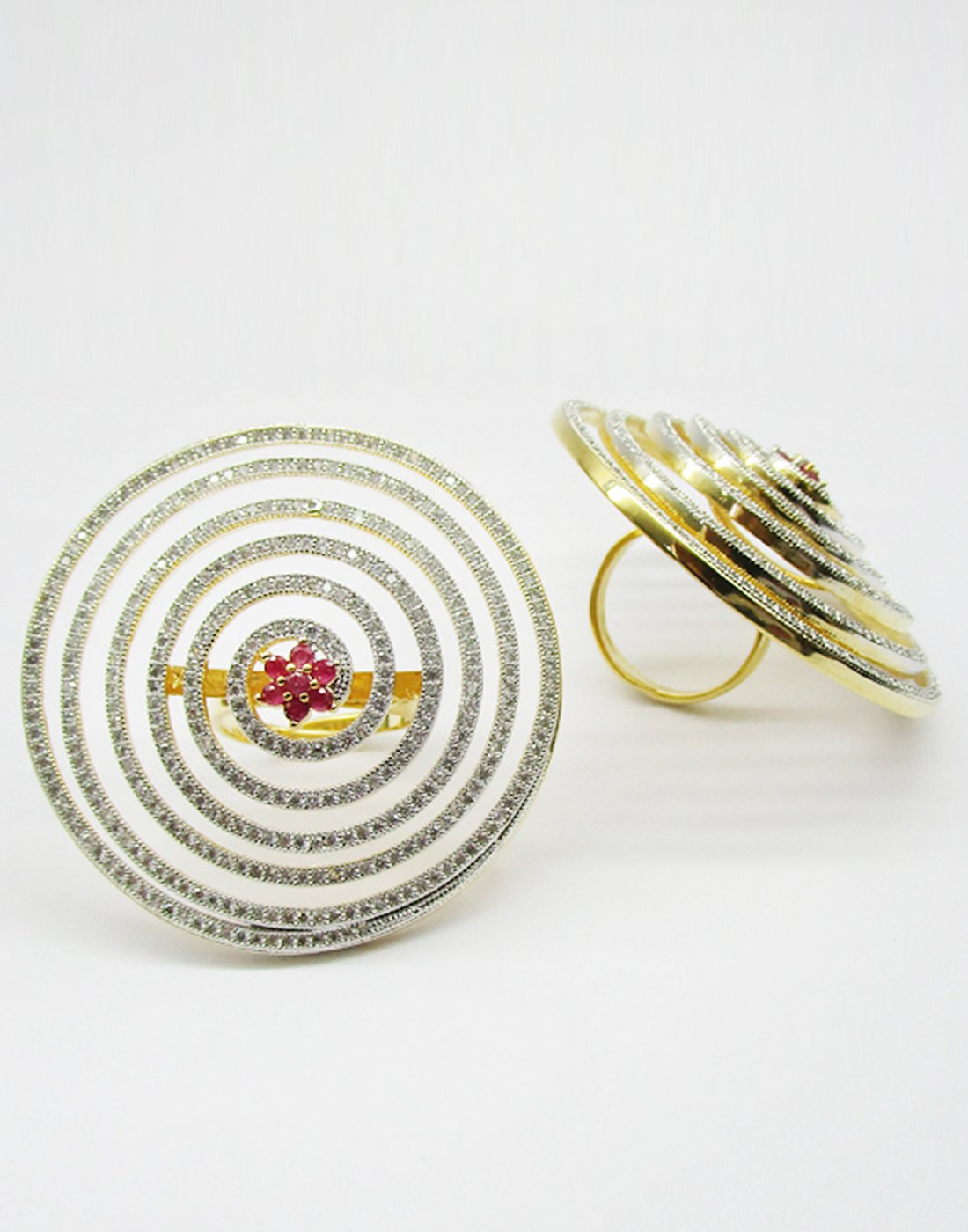 MBZ Meena Bazaar-Beautiful Gold Plated Ring