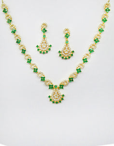 MBZ Meena Bazaar-Beautiful Gold Plated Necklace Set