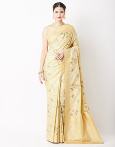 Pista Green Banarasi Saree