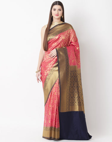 Rani-Navy Art Handloom Saree