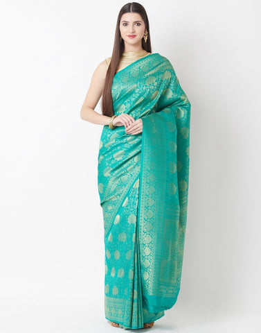 Sea Green Art Handloom Saree
