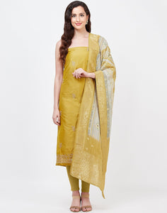 Mehndi Chanderi Suit Set