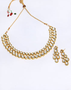 Beautiful Gold Plated Kundan Choker Set
