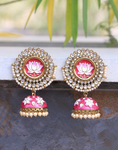 MBZ Meena Bazaar-Gold Plated Earrings