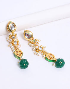 Beautiful Gold Plated Kundan Earrings