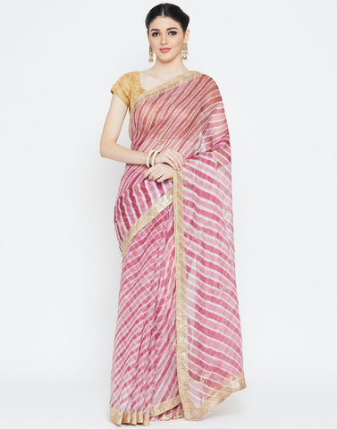 Onion Pink Kota Cotton Saree
