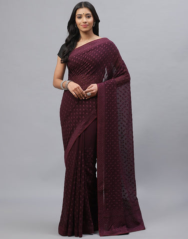 Art Georgette Embroidery Saree