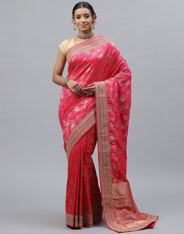 Banarasi Woven Silk Embroidery Saree