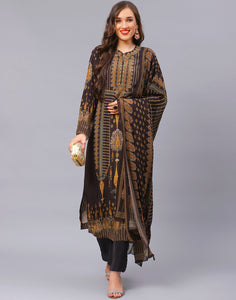 Black Orange Salwar Kameez