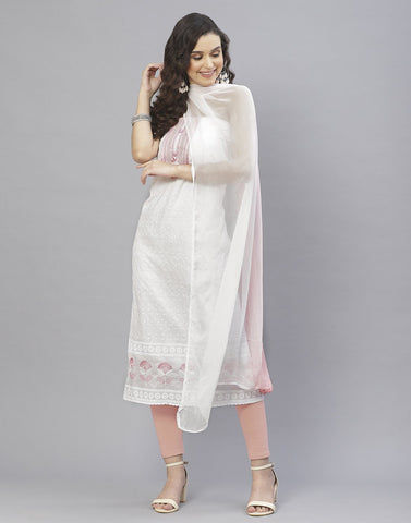 Cotton Embroidery Suit Set