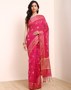 Rani Cotton Woven Saree