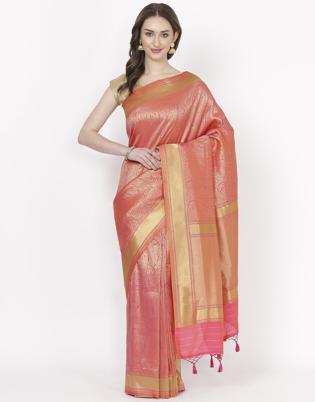 Pink Banarasi Art HandloomSaree