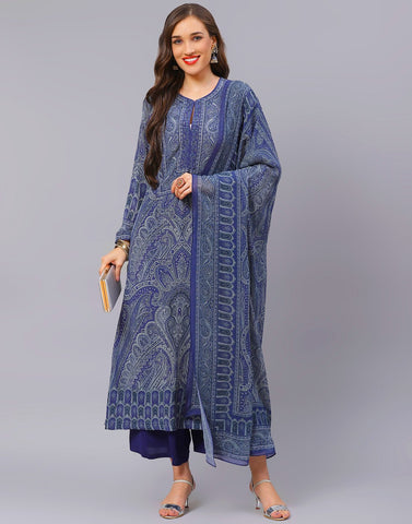 Blue and Pink Salwar Kameez