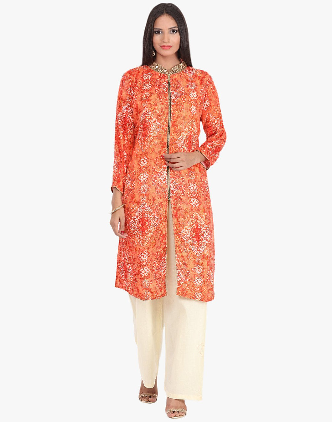 Abstract Printed 2 Piece Palazzo Cotton Suit By Meena Bazaar