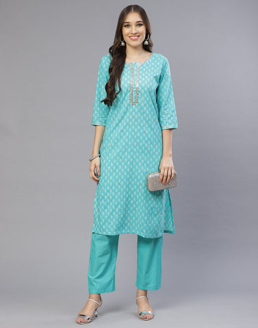 Cotton Printed Kurti With Pant