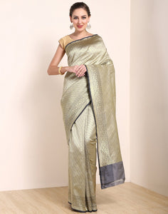 Grey Banarasi Art Handloom Saree