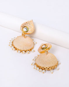 Beautiful Jhumki With White Pearl