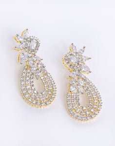 Beautiful Gold with White Earrings