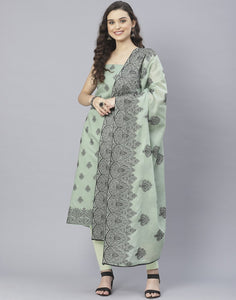 Cotton Embroidered Suit Set