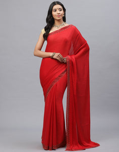 Art Chiffon Embroidery Saree