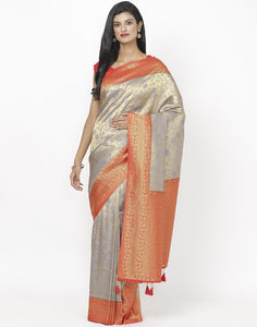 Grey Art Handloom Saree
