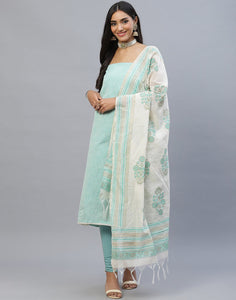 Chanderi Cotton Suit Set