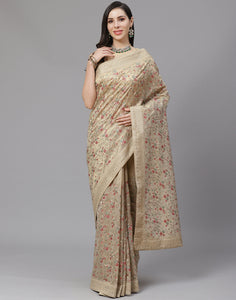 Banarasi Tissue Saree With Embroidery