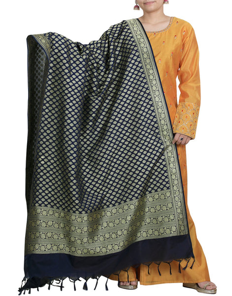 Meena Bazaar Cotton Chanderi Dupatta