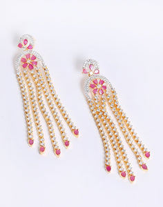 Beautiful Gold Plated Drop Earrings