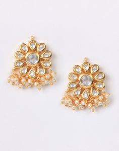 Beautiful Kundan with Pearl Earrings