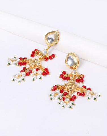 Kundan Earrings With Stone
