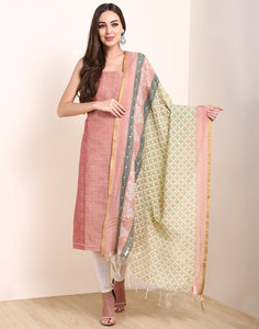 MBZ Meena Bazaar-Onion Pink Chanderi Suit Set